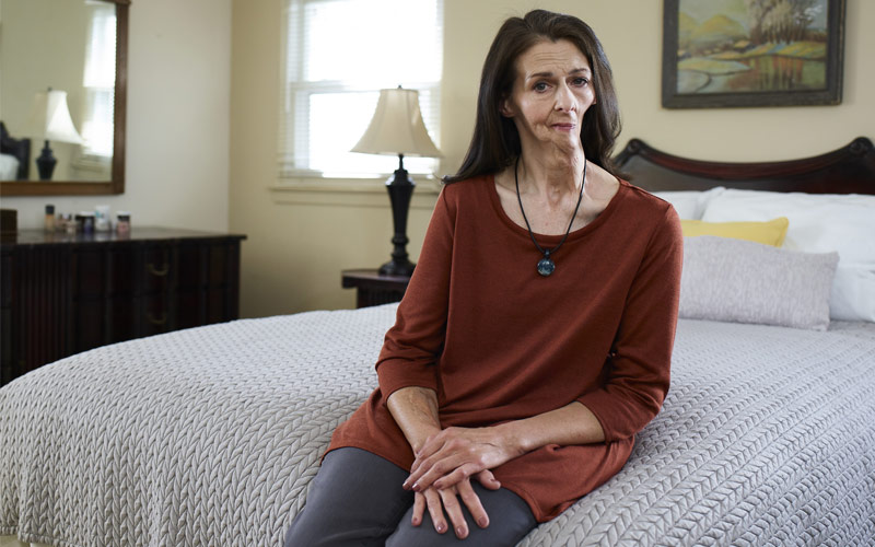 Christine, 55, Pennsylvania; diagnosed with oral cancer at age 44.