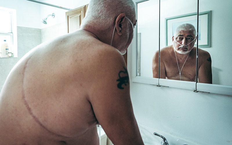 Michael F., age 57,quit working at age 51 because of health problems related to his COPD