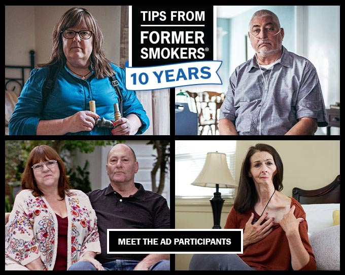 Tips From Former Smokers 10 Years - Tonya, Michael F., Christine, Denise H., Brian H.