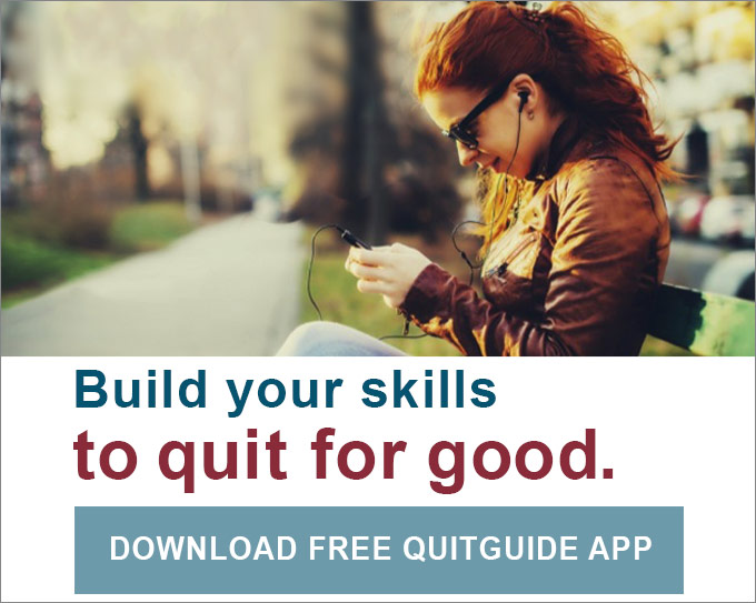 Build your skills to quit for good. Download free quitguide app