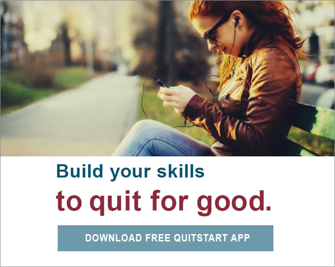 Build your skills to quit for good. Download free quitSTART app