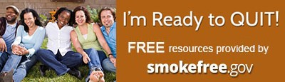 Im Ready to QUIT! FREE resources provided by smokefree.gov