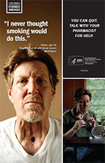Poster of Shawn encouraging other smokers to quit.