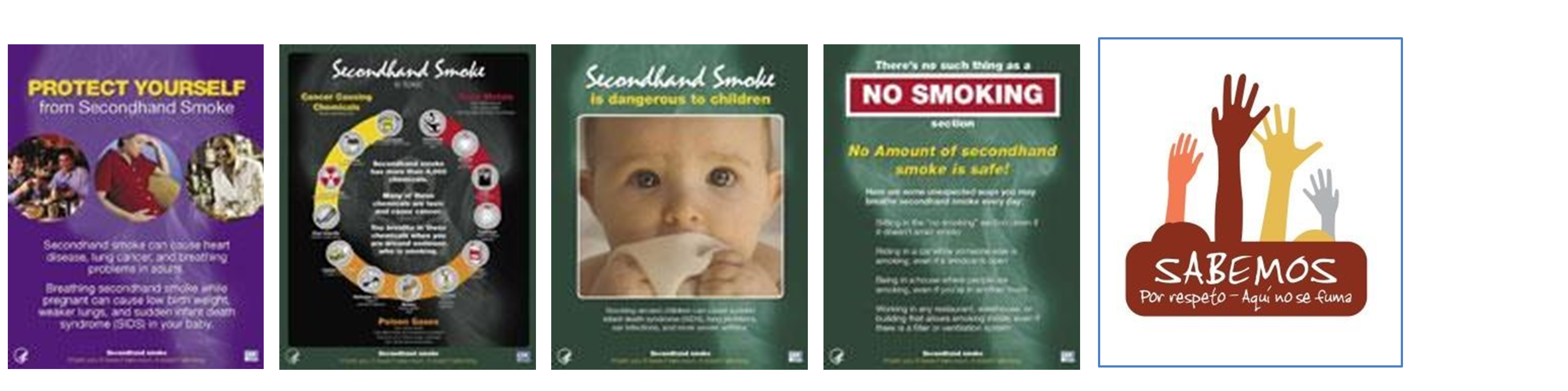 CDC Secondhand Smoke Posters