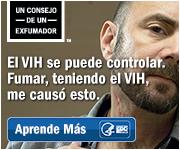 Un consejo de un exfumador. El VIH se puede controlar. Fumar, teniendo el VIH, me causó esto. Aprende más.