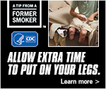 A Tip from a Former Smoker. Allow extra time to put on your legs. Learn More