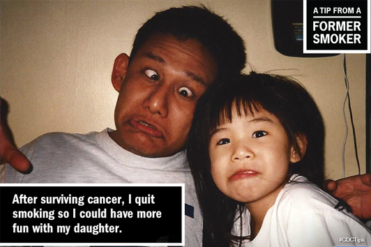 FIND SOCIAL SUPPORT - Tips from a former smoker. After surviving cancer, I quit smoking so I could have more fun with my daughter.