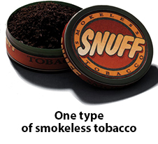 Image of one type of smokeless tobacco