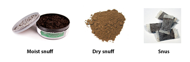 Various kinds of snuff