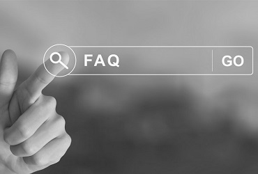 Finger selecting FAQ option