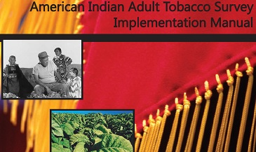 Two photos, one of native americans, the other of tobacco plants superimposed on fringes on a blanket