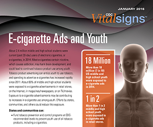 Vital Signs: E-cigarette Ads and Youth