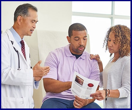 Doctor counseling patients