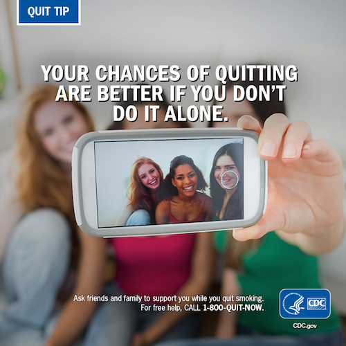 Your chances of quitting are better if you don't do it alone