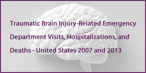 Traumatic Brain Injury-Related Emergency Department Visits, Hospitalizations, and Deaths - United States 2007 and 2013