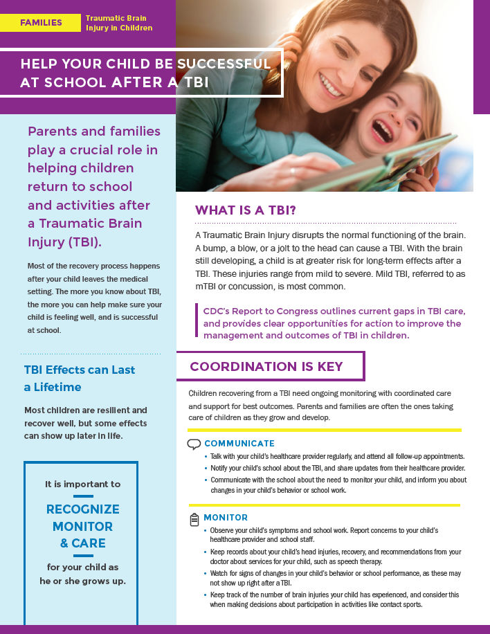 Help Your Child Be Successful At School After A TBI