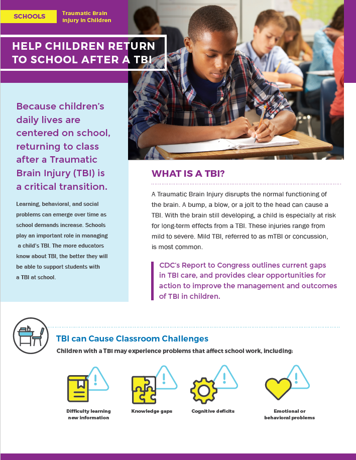 Help Children Return to School After A TBI