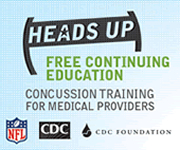 HEADS UP: free continuing education; concussion training for medical providers