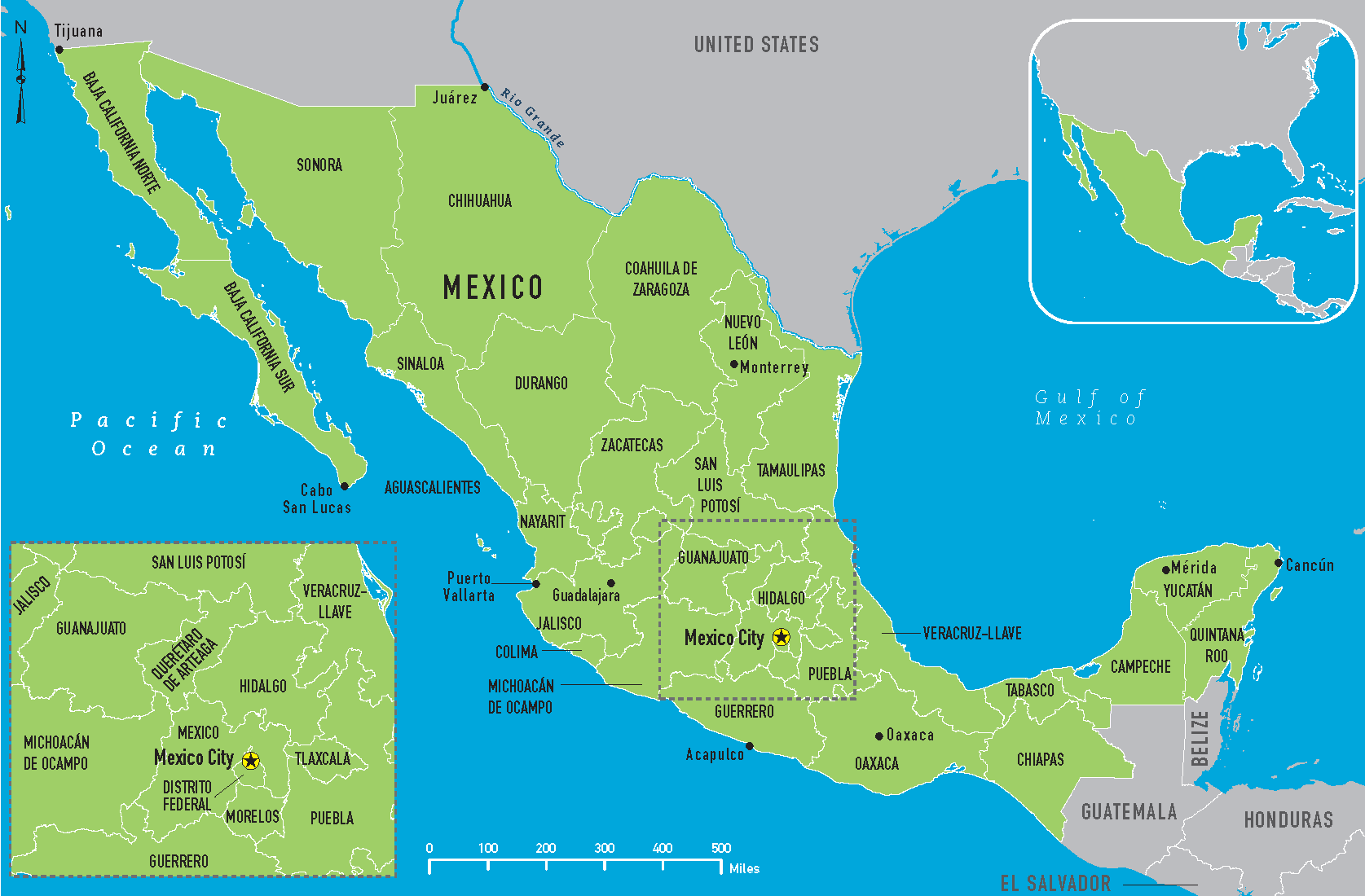 It is a graphic of Ridiculous Printable Map of Mexico