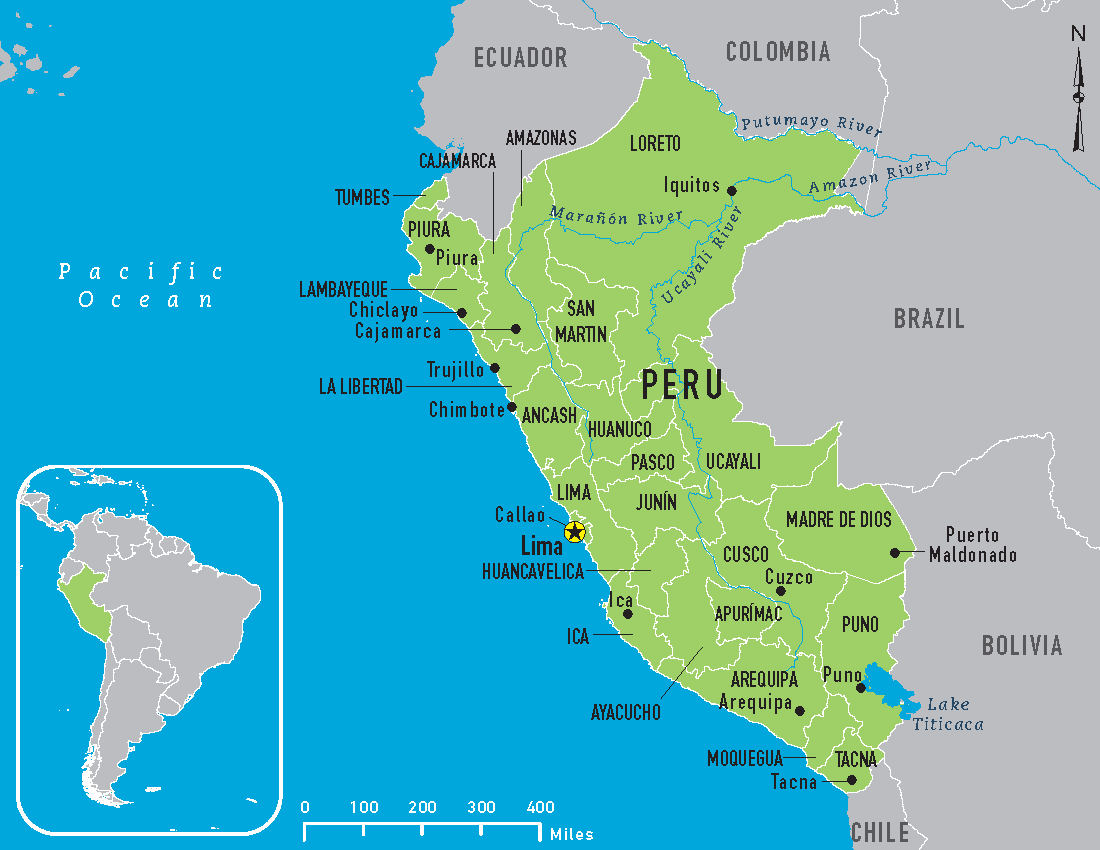 It's just a photo of Versatile Printable Map of Peru