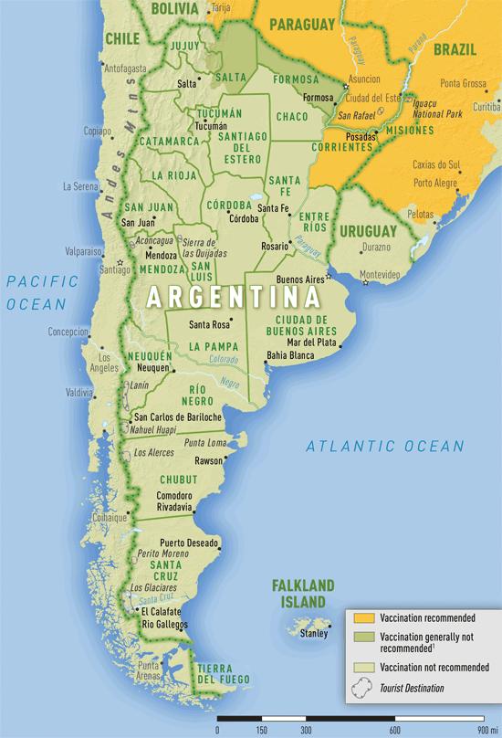 SVAArgentina Language Exchange Program - Argentina zika map