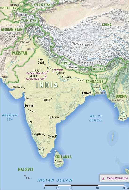 Map 4-11. India destination map