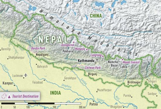 Map 4-12. Nepal destination map