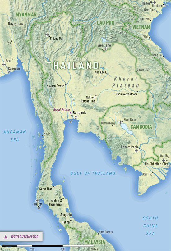 Map 4-13. Thailand destination map