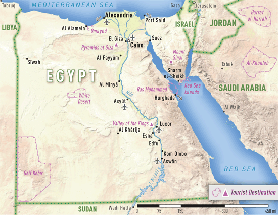 Map 4-15. Egypt destination map