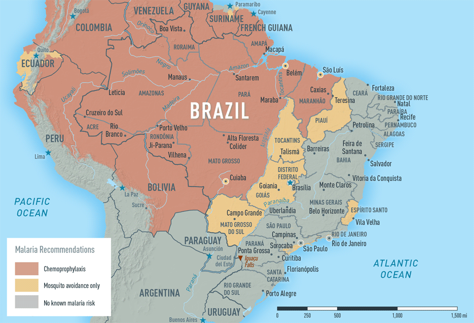 brazil karta Yellow Fever & Malaria Information, by Country   Chapter 3   2018  brazil karta