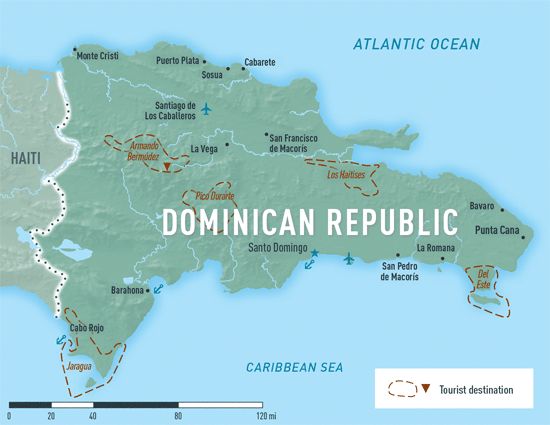 Dominican republic chapter 4 2018 yellow book travelers dominican republic destination map publicscrutiny Images