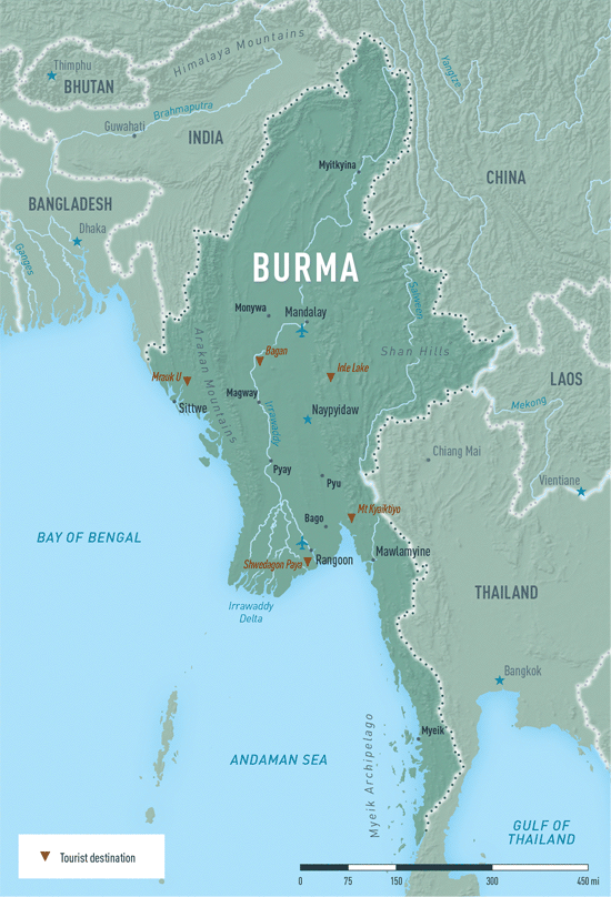 Map 4-11. Burma (Myanmar) destination map