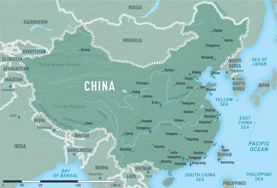 Map 4-12. China destination map