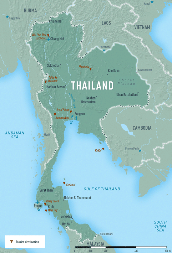 Map 4-15. Thailand destination map