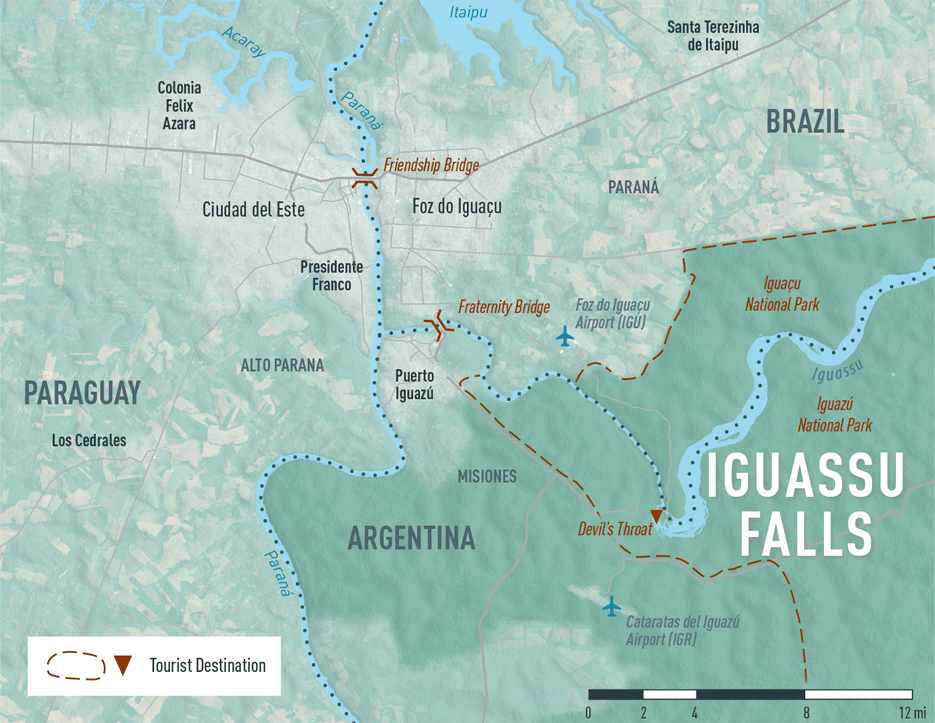 Map 4-18. Argentina/Brazil Iguassu Falls destination map