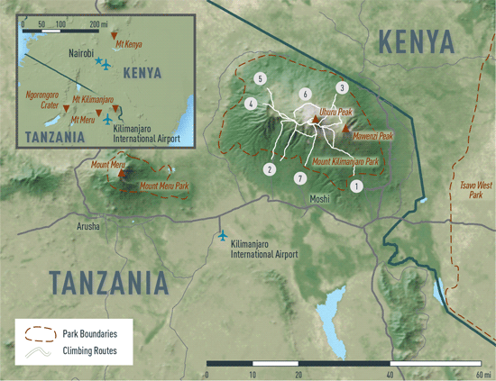 Map 10-04. Kilimanjaro destination map