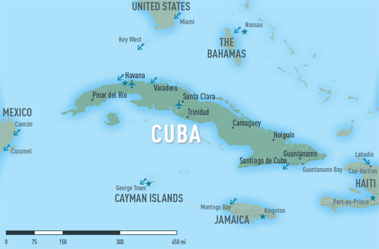 Map 10-06. Cuba destination map