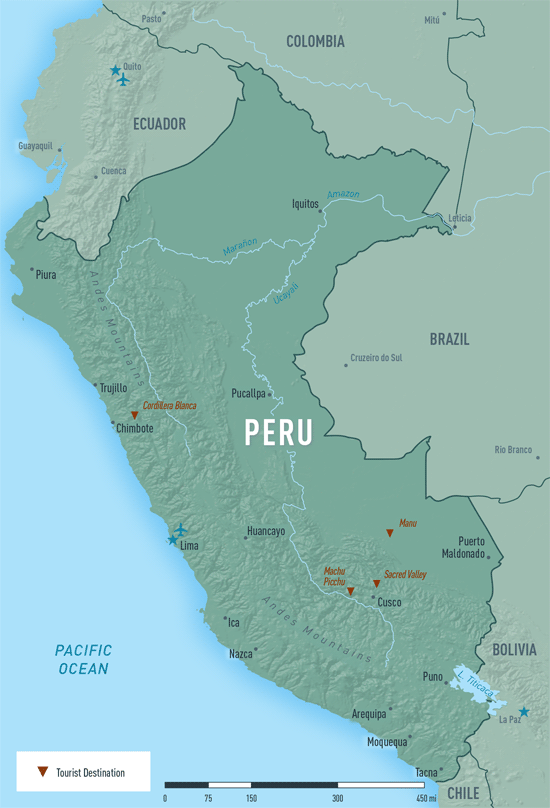 Map 10-10. Peru destination map