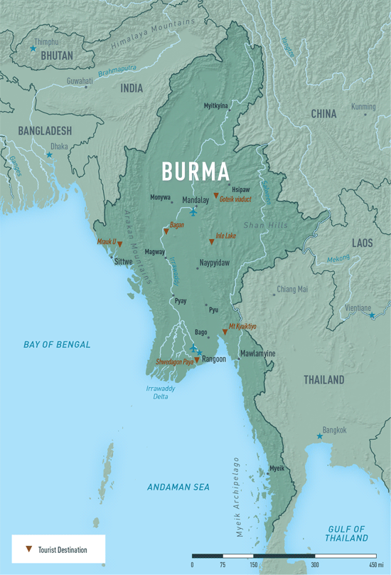 Map 10-11. Burma (Myanmar) destination map