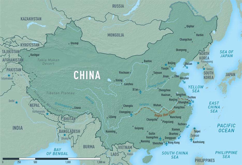 Map 10-12. China destination map