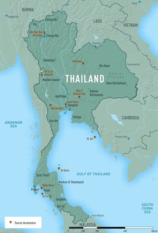 Map 10-15. Thailand destination map