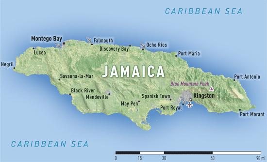 Map 10-19. Jamaica destination map