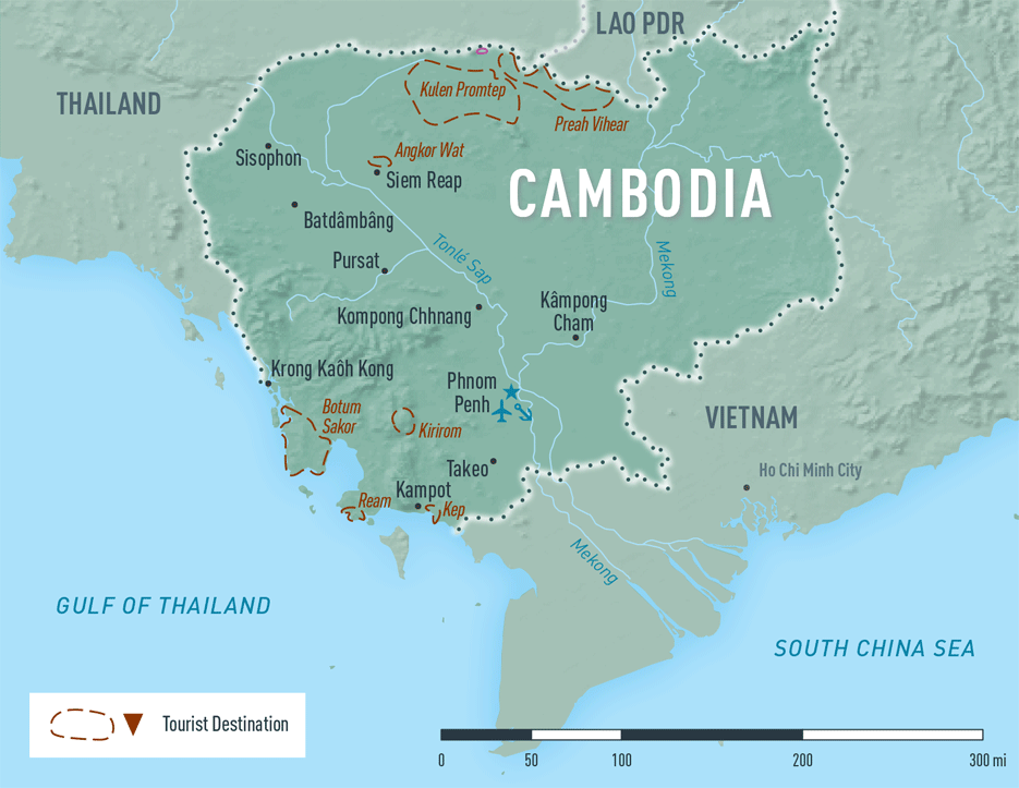 Map 10-20. Cambodia destination map