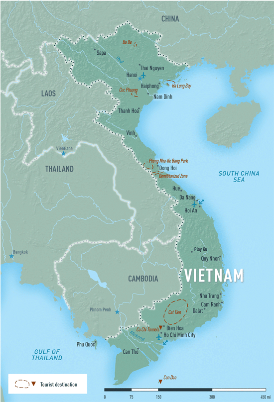 Map 10-21. Vietnam destination map