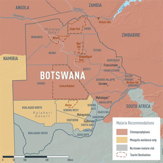 MAP 2-04. Malaria in Botswana