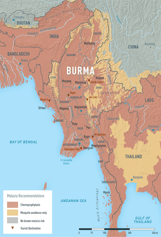 MAP 2-07. Malaria in Burma
