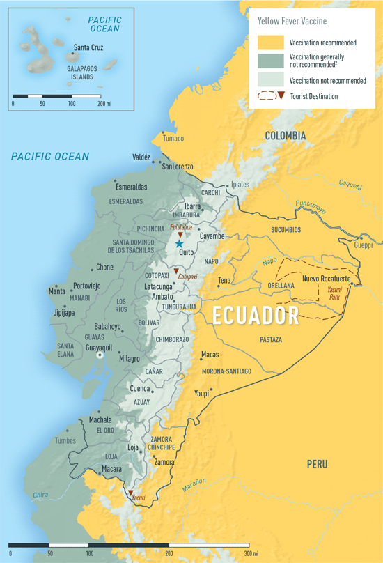 Diseases in Ecuador Yellow fever vaccine recommendations in Ecuador