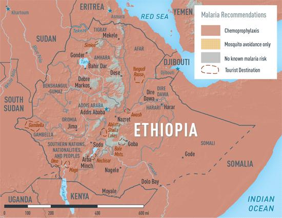 MAP 2-14. Malaria in Ethiopia