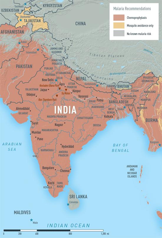 MAP 2-15. Malaria in India