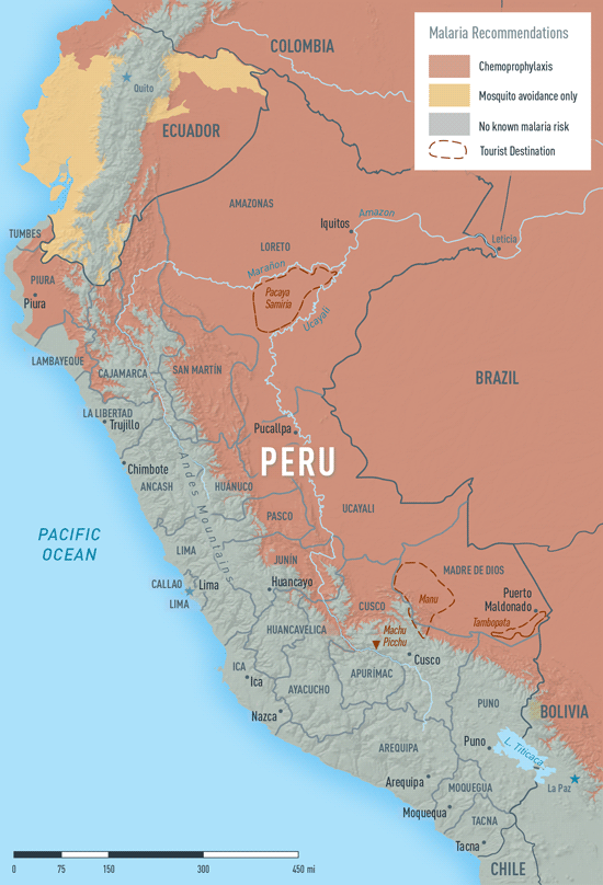 MAP 2-24. Malaria in Peru